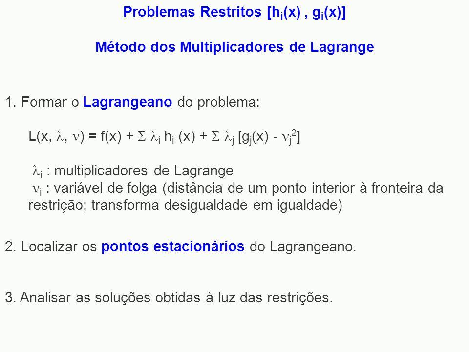 Problemas Restritos [hi(x) , gi(x)]